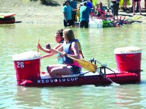 "The ""Red Solo Cup"" is one of several fan favorite bathtub ""boats"" expected to return to the ""Great Bath Tub Races"" on June 27. (Garrett Estrada photo)"