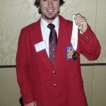 Lincoln County High School student Stefan Hale holds up his gold medal from the SkillsUSA Nevada interviewing competition. Hale will travel to Kentucky on June 22 to compete against other students from around the country. (Courtesy photo)