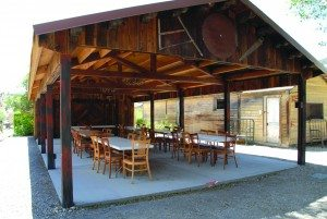 (Courtesy photo) The new pavilion at the Renassaince Society will offer a place to sit and eat during the Wine Walk.