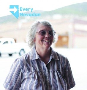"(Courtesy photo) Lorraine Clark was featured on Hilary Clinton's social media  campaign as part of presidential candidate's ""Every Nevadan"" tour that is traveling the state looking for input from rural counties."