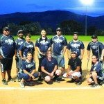 (Garrett Estrada photo) The Club Rio and Sunset Lanes slow pitch softball team won the league championship 26-14 over the Concrete Insurance Queens on Aug. 4. Pictured from left to right: Benny Reilley, Skylar Hall, Tricia Reynoso, Mikka Miller, Aaron Trujillo, Matthew Searle, Anthony Searle, Alli Huntington, Jacqueline Lemback, Trevor Marques, Alicia Searle. Not pictured: Stephanie Smith and Mandy Marques.