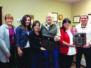 Courtesy photo Four local teachers who were honored by the Ely Lions Club are Brigette Bath-Barney, Judee Schaley, Cathy Beckwith and Tylar Laity.
