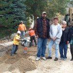Extending sewer line