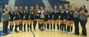 Kirk Kern photo White Pine County 2015 girls Division III Southern volleyball champions.