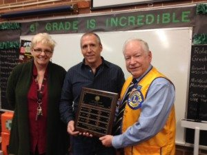 Courtesy photo Pictured Principal Cammie Biggs, Roger Dunnavant, Bob Switzer.