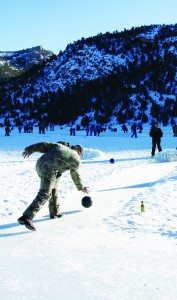 Get ready for ice bowling at Fire & Ice.