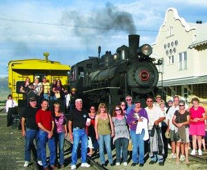 Courtesy photo People come to White Pine County from around the world to visit the Nevada Northern Railway. Their visits to the railroad have a sizeable impact in our community's economy.