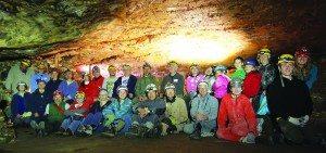 Gretchen Baker NPS photo Lint Camp Volunteers in the Inscription Room of Lehman Cave