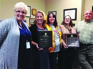 Courtesy photo Melany Johnson and Colleen Crossman being honored by the Ely Lions Club and White Pine County School District.