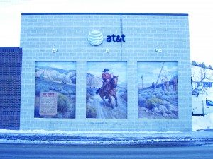 Ross Johnson photo The AT&T building in Ely. Many residents believe Ely receives subpar internet service from the company.