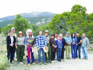 Ross Johnson photo Participants after the indigenous blessing ceremony at Great Basin National Park March 21.