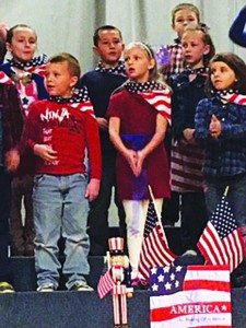 Courtesy photo McGill Elementary students performing their annual patriotic program.