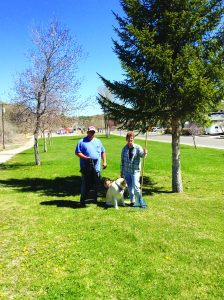 Courtesy photo City Parks Employee Dale Chilson and Mayor Melody Van Camp
