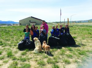 Courtesy photo From the Girl Scouts, Learning Bridge Charter School, and White Pine High School, the community wide cleanup on Earth Day had many volunteers.