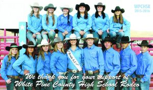 Members of the White Pine Junior High and High School Rodeo team.