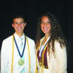 Perez and Kingston Elks Students of the Year