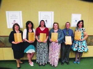 McGill-Baker Elementary School: Ann Herder, Janine Gamberg, Christina Nicholes, Kenna Hall, Sheldon Nicholes and Jenny Wilson