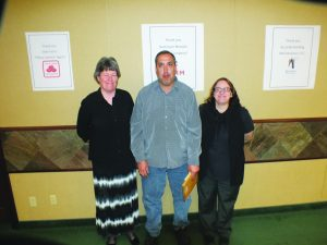 Steptoe Valley School: Susan Jensen, Principal, Russell Pantello, Teacher and Colleen Crossman, Support Staff.