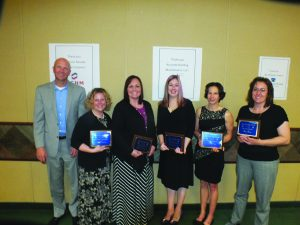 White Pine High School: Adam Young, Principal, Kelly Sturgeon, Most Thinking Required, Steffanie Thompson, Most Supportive, Cathi Cracraft, Most Inspirational, Becki Bath, Most Dedicated and Gina Gray, Most Innovative.