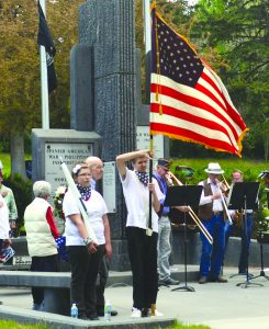 Memorial Day ceremonies were held on the courthouse lawn.