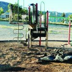 McGill school playground damaged in fire
