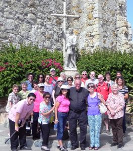 Photo by Christian Clifford Father John McShane, pastor of Sacred Heart Church in Ely, NV, was the pilgrimage chaplain on a journey that retraced the steps of Catholic Saint Junipero Serra.