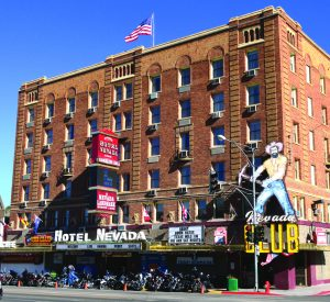 Times photo by Marty Bachman The historic Hotel Nevada and Gambling Hall is a biker friendly venue that will be the host hotel for Ely, Nevada's 1st Cool Mountain Thunder Bike Week, Sept. 2-11.