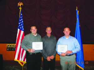 Courtesy photo Pictured from left to right Deputy Steve Saunders, Captain Scott Henriod, OTS coordinator for the Sheriff's Office and Sgt. Sean Wilkin.
