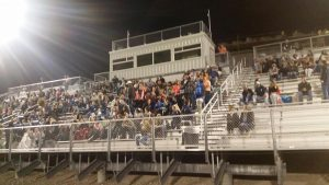 Courtesy photo A big crowd cheered on the White Pine High girls soccer team.