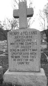 Henry J. Yelland Grave on the Ely Cemetery Map – I was able to find Henry J. Yelland's grave at the Ely Cemetery with the help of staff and this map.