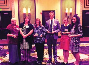 Courtesy photo From left, Cammie Briggs, Julie Heggie, Lori Hunt, Collin Young, Hailey Ernest, Britney Kingston