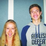 Stewart and Gledhill February Elks Students of the Month