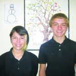 Luke Finicum and Karlee Cue  January Students of the Month