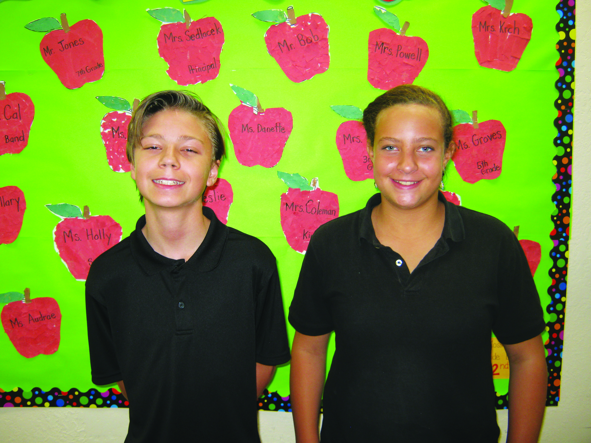 Adams and Mabson September Elks students