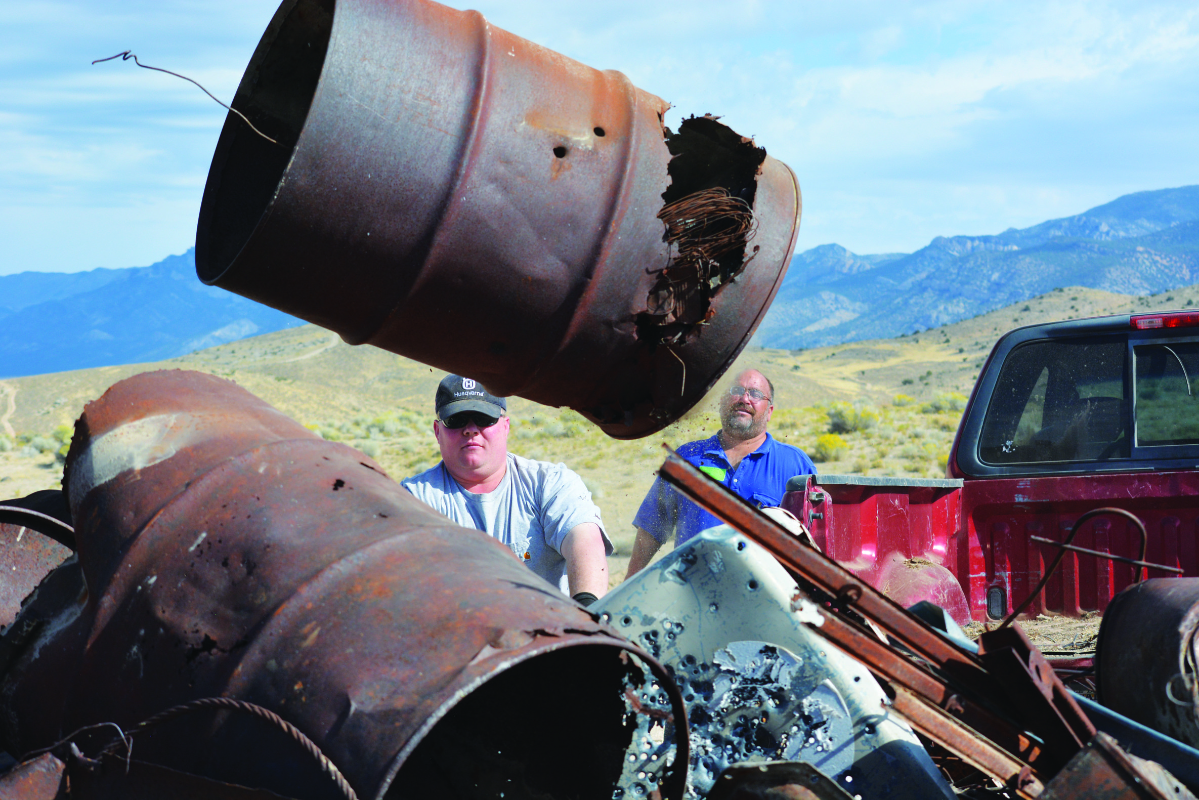 Lund community turns out for NPLD and Eagle Scout service project