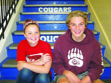Van Tassell and Weston  November Junior Elks Students