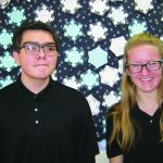 Rice and Andrae December Jr. Elks Students of the Month