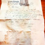 Hotel Nevada finds piece of history – letter from 1931
