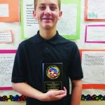 Gubler awarded Outstanding  7th Grade wrestler