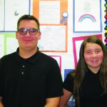 Casarez and Blow April  Ely Elks Students of the Month