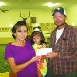 Elks donations to  Cinderella contestant