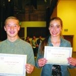 Lawrence and Schulz Elks Students of the Year
