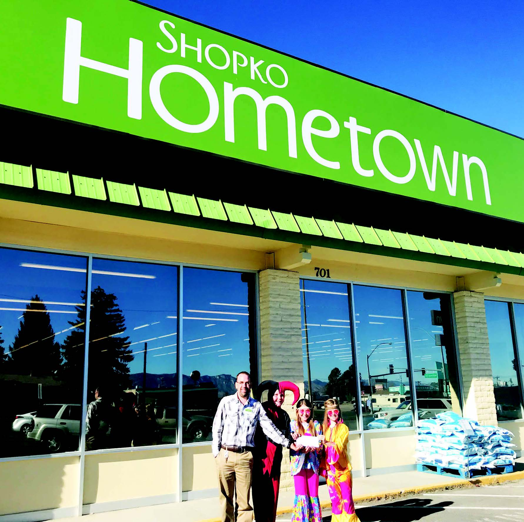 Submitted photo  Tom Olson, Shopko store manager and DEN students Matthew Thompson, Chelsie Newman and Brooklynn Reed.