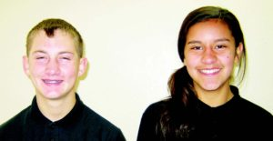 Ken Curto  Tristin Michael Gubler and Rylee Elise St. Aubin are the Elks Jr. Students of the month for October.