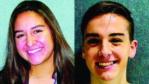 Ken Curto Caysen Anthony Connell and Brenna Nichole Williams are the Elks Students of the month for November.