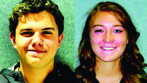 Ken Curto Shamryn Bruce Brewster and Cassie Anne Newman are the Elks Students of the month for October.