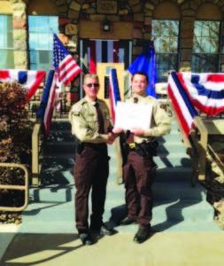 From left, Sheriff Scott Henriod and Deputy Jackie Erekson Jr.