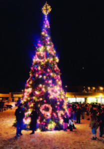 Submitted photo  The 30-foot Christmas Tree will be brought to life on Saturday night at Sculpure Park downtown.
