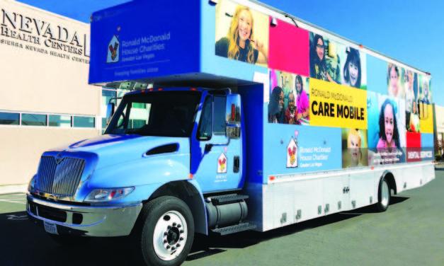 Ronald McDonald Care Mobile providing dental care for Ely