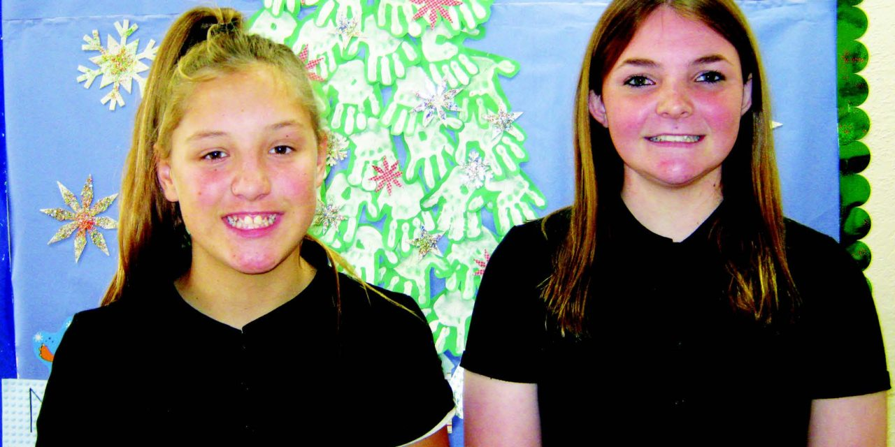 Merrill, Newman selected as students of the month by Elks